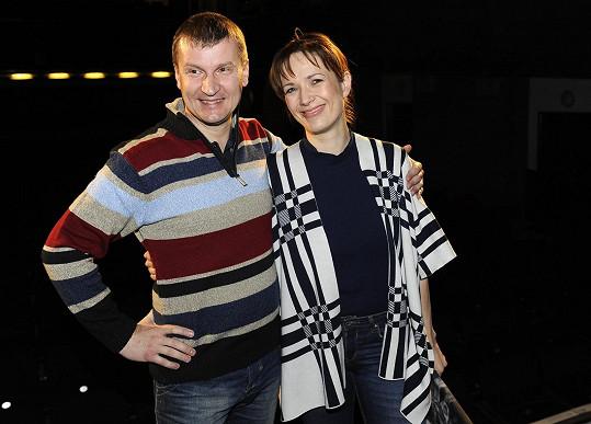 Tereza s režisérem Radkem Balašem
