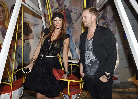 S manželem Jakubem Prachařem na Gypsy párty.