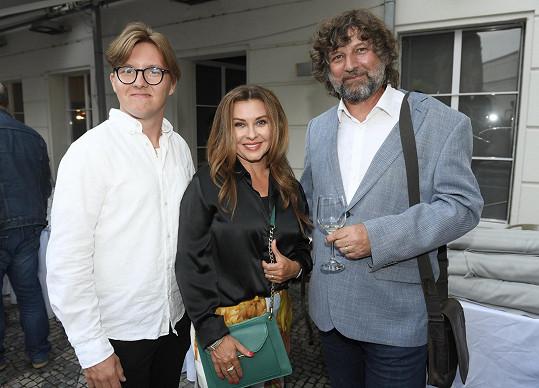 S manželem Petrem Maláskem a synem Péťou