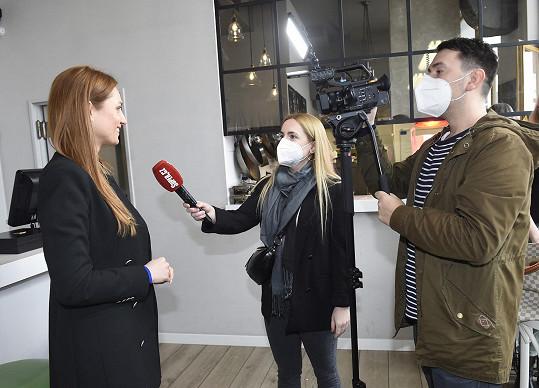 Romana Pavelková při rozhovoru pro Super.cz