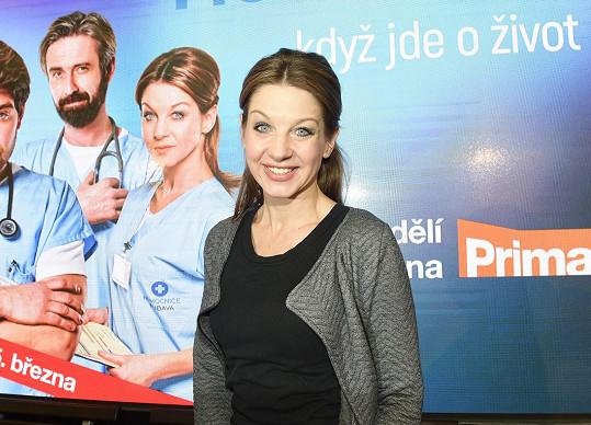 Sabina Laurinová kvůli seriálu Modrý kód musela změnit image.