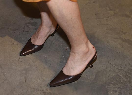 Tyto boty si pořídila v New Yorku.