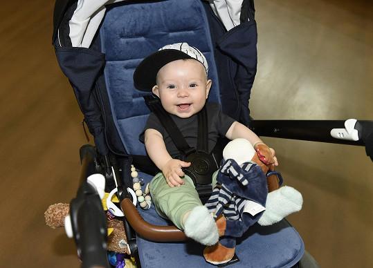 Malý Bertram Dědík je zatím kouzelné a pohodové dítě.
