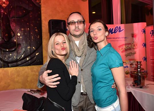 Michaela na párty s kolegy z Fantoma opery Marianem Vojtkem a Monikou Sommerovou