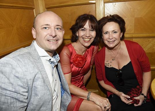 S Davidem Novotným a Míšou Dolinovou na otevření divadla