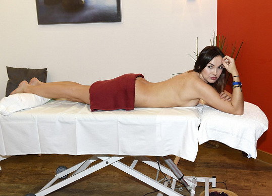 Kamila byla po dlouhé době na masáži.