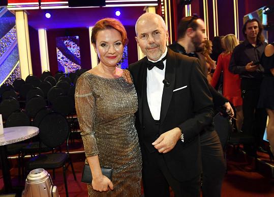 Jolana Voldánová a moderátor Marek Eben