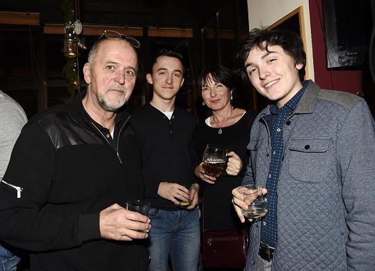Jan Vančura s rodinou