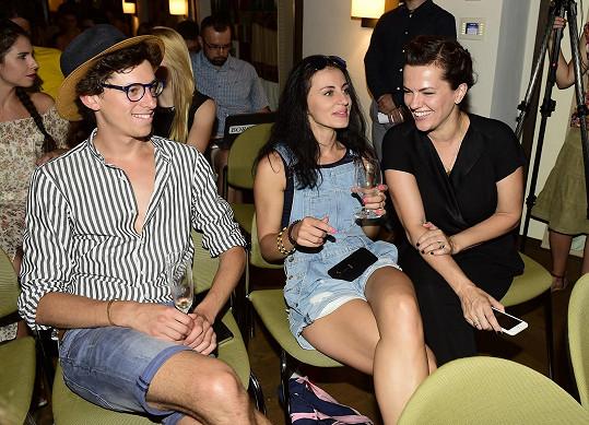 Markéta s kolegy Janem Cinou a Martou Jandovou