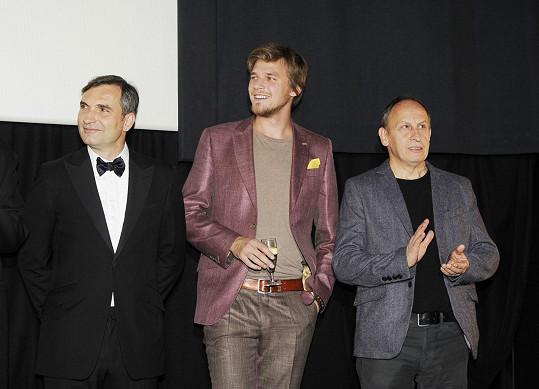 Na pódiu s Jiřím Macháčkem a Janem Krausem