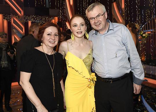 Marie s rodiči.