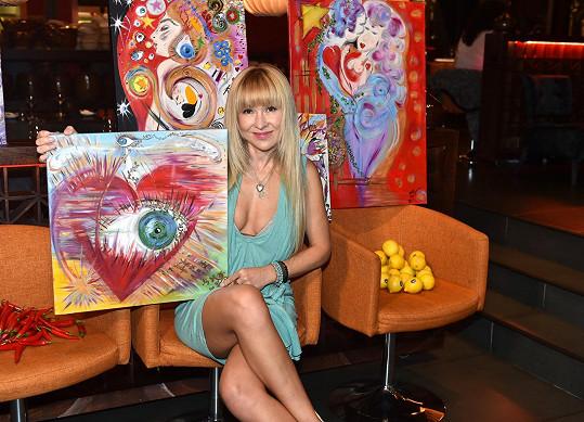 Kateřina se dala na malování.