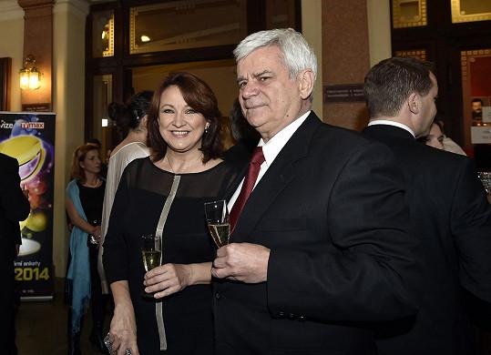 Zlata Adamovská s manželem Petrem Štěpánkem