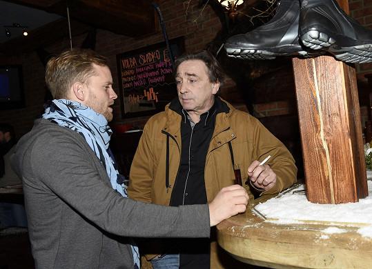 S Jakubem Prachařem hrají otce a syna.
