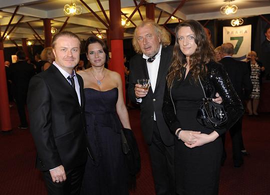S manželem Pavlem Šporclem a Kristiánem Kodetem s dcerou