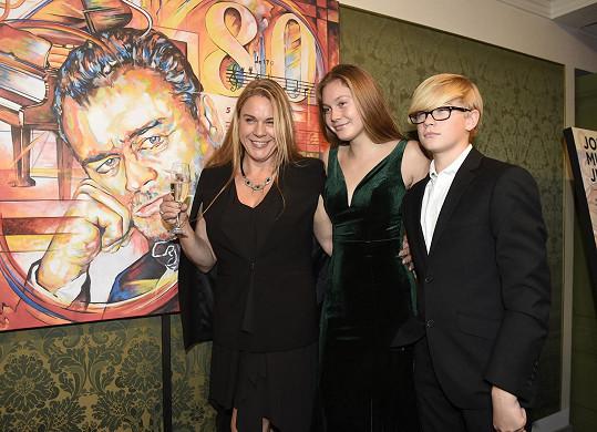 S dcerou Michelle a synem Christopherem