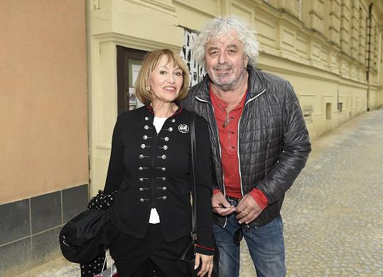 Petra Černocká s manželem jsou už oba sedmdesátníci.