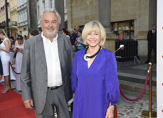 Jana Švandová s manželem Pavlem Satoriem