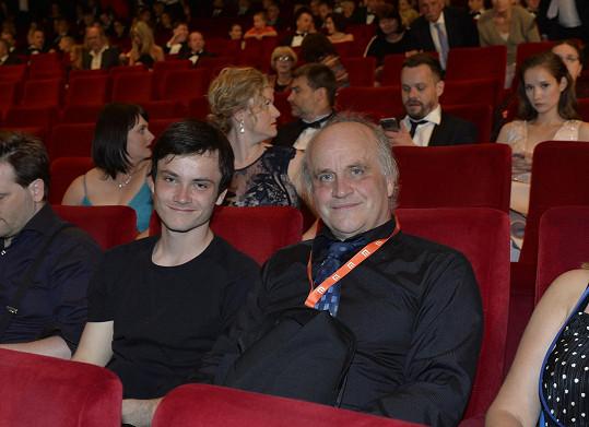 Michael Kocáb se synem Mikim