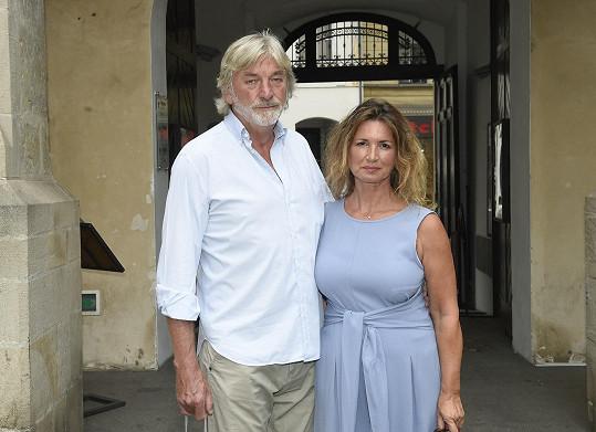 Jiří Kratina s manželkou