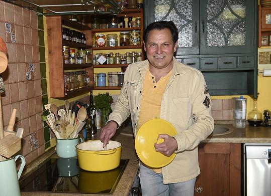 Pavel kraluje i kuchyni.