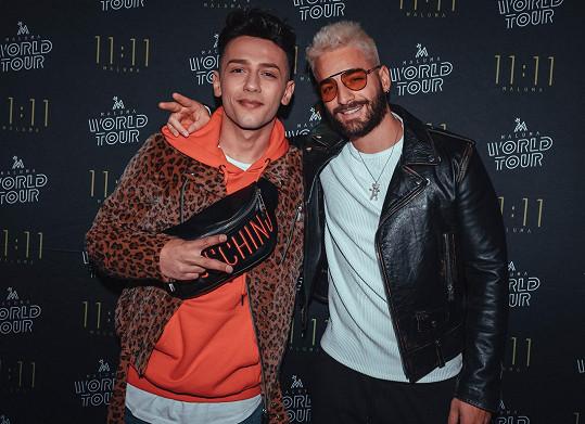 Maluma vydává hity s Madonnou i Shakirou. Pro Honzu Bendiga bylo ctí vystoupit na afterparty jeho koncertu.