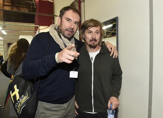 Ondřej Bank i Emanuele Ridi si přišli prohlédnout nový ateliér StarDance na Barrandově.