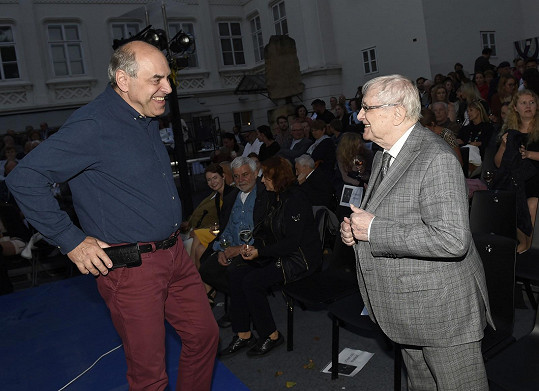 S kolegou Miroslevm Táborským