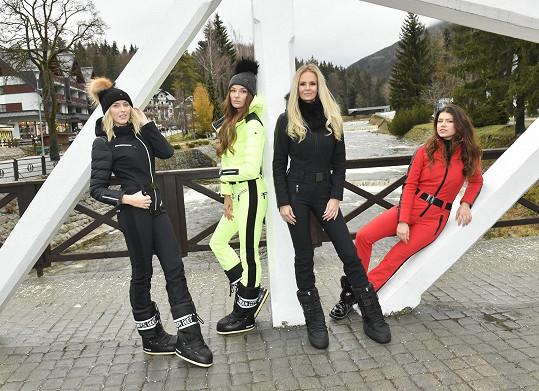 Lucka s dalšími modelkami v nové zimní kolekci