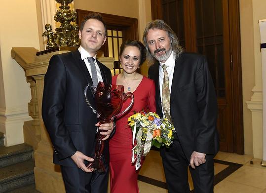 S tátou Oldou a manželkou Marií