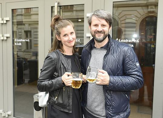 Podívat se přišli i Jana Bernášková s manželem Rudolfem Merknerem.