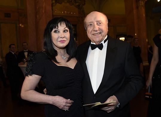 Dáda Patrasová a Felix Slováček přišli spolu.