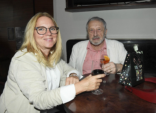 Herečka Tereza Pokorná s Janem Vodňanským