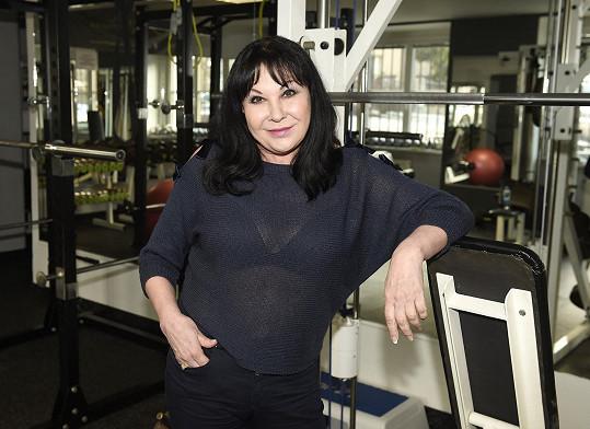 Dagmar Patrasová ve své oblíbené posilovně