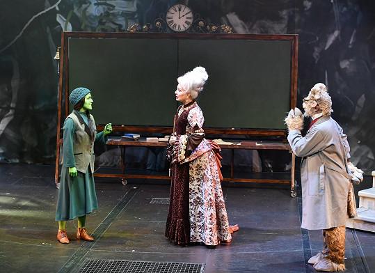 Světlana Nálepková jako Madam Morrible v muzikálu Čarodějka
