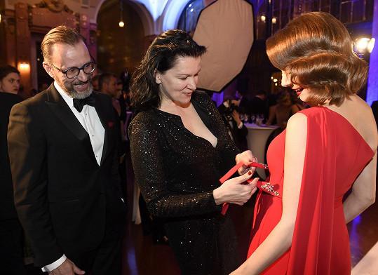 Táňa šila model pro těhotnou Gabrielu Laškovou.