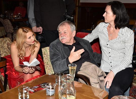 Ivana se zapovídala s Karlem Šípem a jeho ženou Ivou Havránkovou.