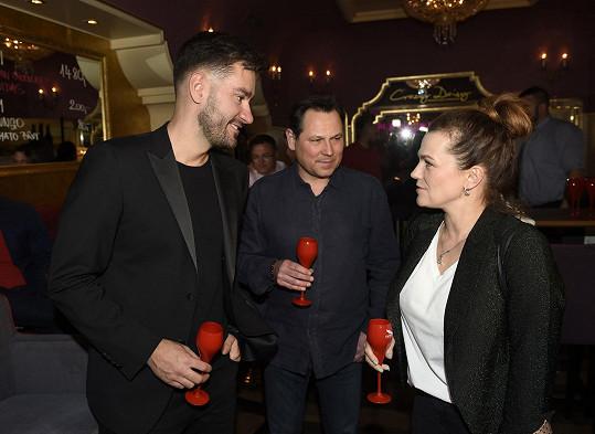 Na oslavě s Pavlem Vítkem a Martou Jandovou
