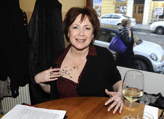 Svobodová a jedno z jejích tetování