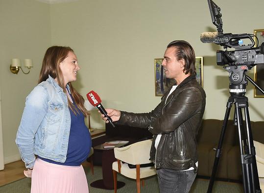 Kristýna Hoidarová Kolocová je podruhé těhotná.