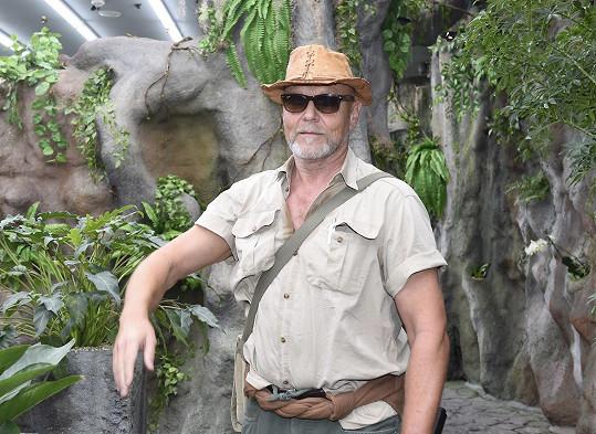Marek Vašut v tropické motýlí zahradě