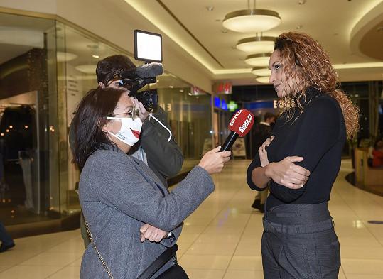Lejla při rozhovoru se Super.cz