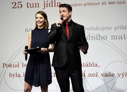 Zahájení výstavy Body The Exhibition moderovala Gábina Lašková s Tomášem Krausem.