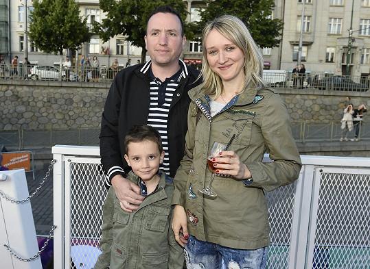 Lucie Kovaříková s manželem Janem a synem Vojtou, který příští rok půjde do školy.