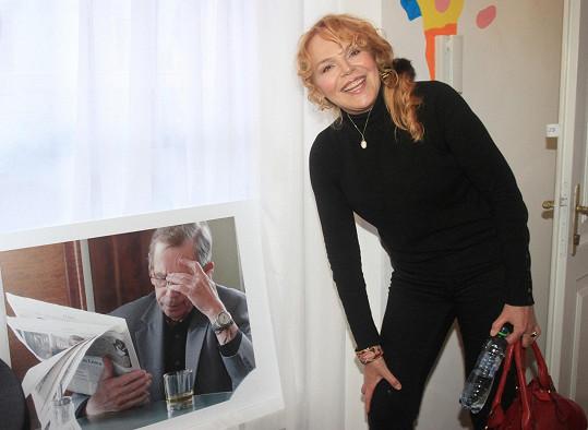 Havlová představila projekt virtuální pracovny Václava Havla.