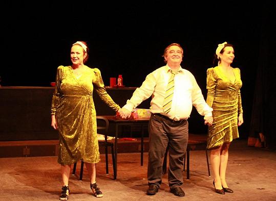 Ilona Svobodová, Otmar Brancuzský a Nela Boudová sklidili po představení zasloužený potlesk.