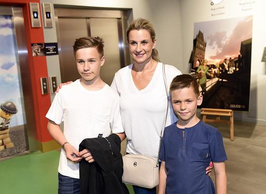 Monika Marešová s dětmi