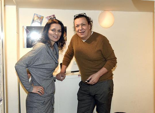 S kolegyní Adélou Gondíkovou při zkoušce nové divadelní role