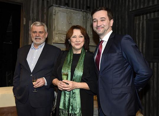 Petr Štěpánek, Zlata Adamovská a Ondřej Sokol mají na svědomí představení Mísery v divadle Studio DVA.