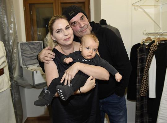 Helena Bartalošová a Miroslav Etzler se synem Samuelem